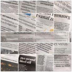 De krant die niet realistisch kleur bekent