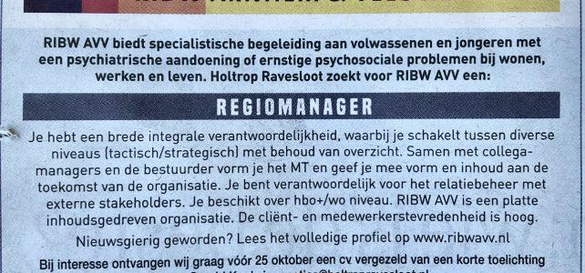 Regiomanager gezocht (m/v)
